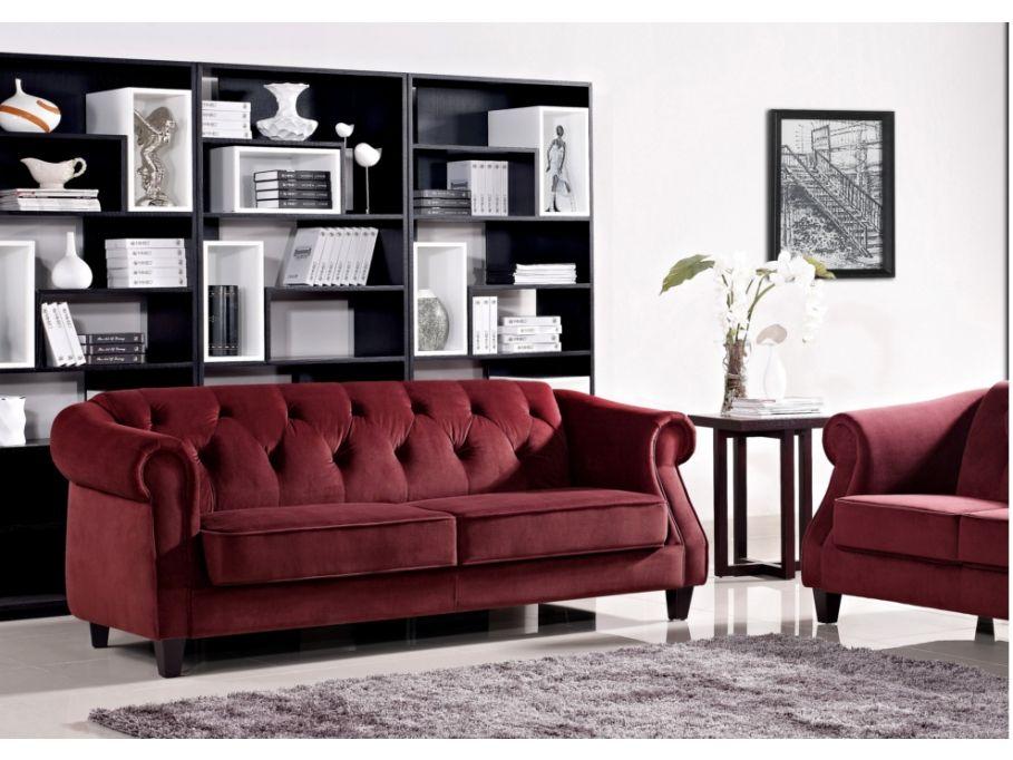 Sofa 3 plazas de tela - Rojo vogue \u20ac 520 T H I N G S Pinterest