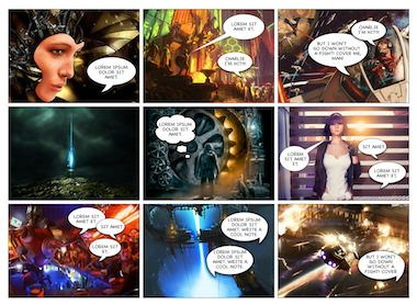 Comic Book Image   Steampunk Comic    Comic And Book