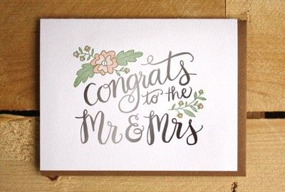 Congrats To The Mr Mrs Wedding Gift Letterpress Letterpress