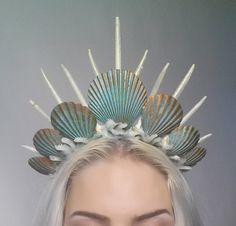 Articles similaires à sirène Couronne diadème coiffure turquoise sur Etsy