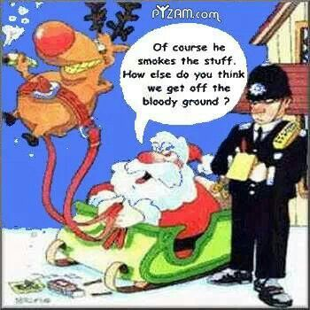 Way to go Santa fronting out the reindeer!