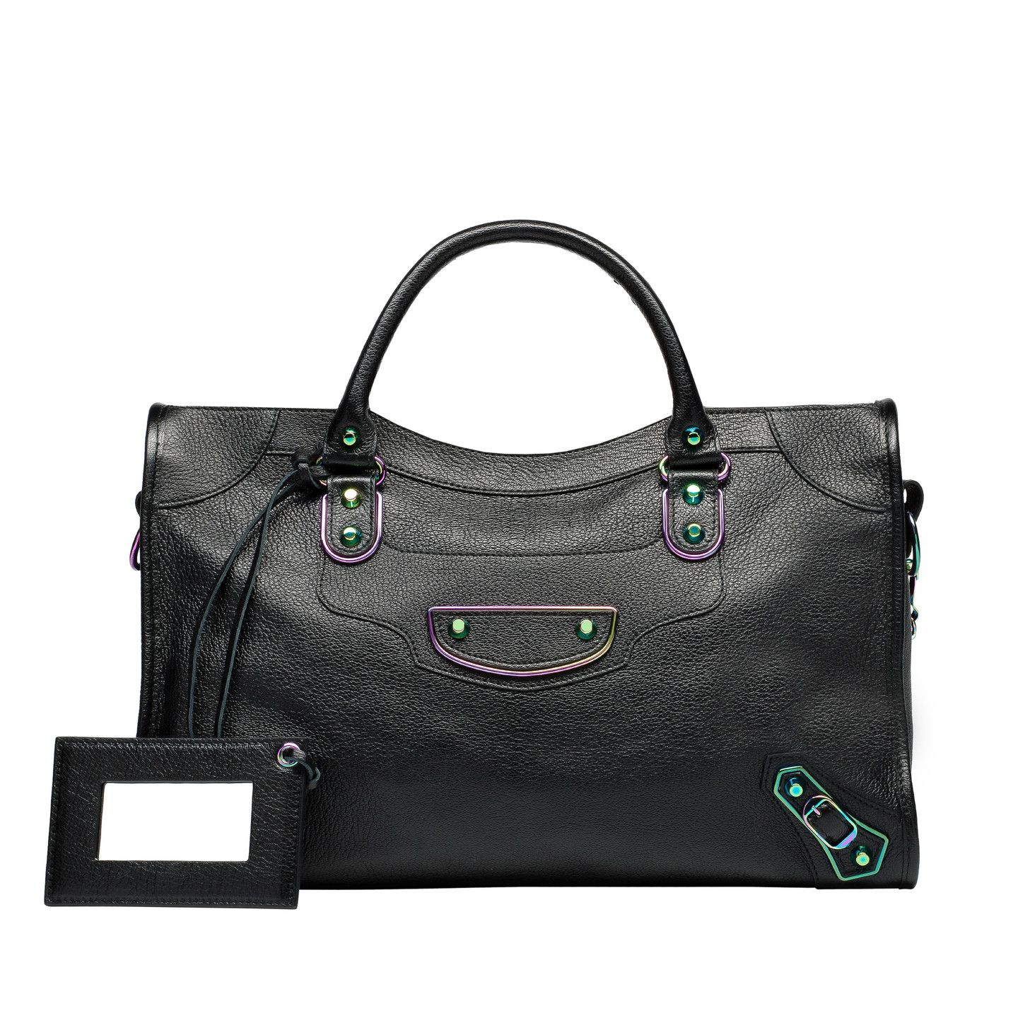 Balenciaga Metallic Edge Iridescent Bags Women Black - Discover the latest  collection and buy online Women on the Official Online Store. 0a75c8916c6e6
