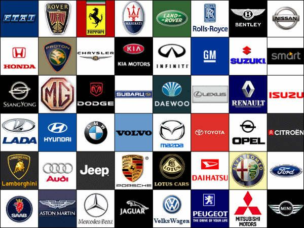 BIKES AND CARS POPULAR CAR SYMBOLS Entertaining Ideas - Car sign with names