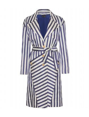 3c90d103f83 Fendi -Belted Striped Coat