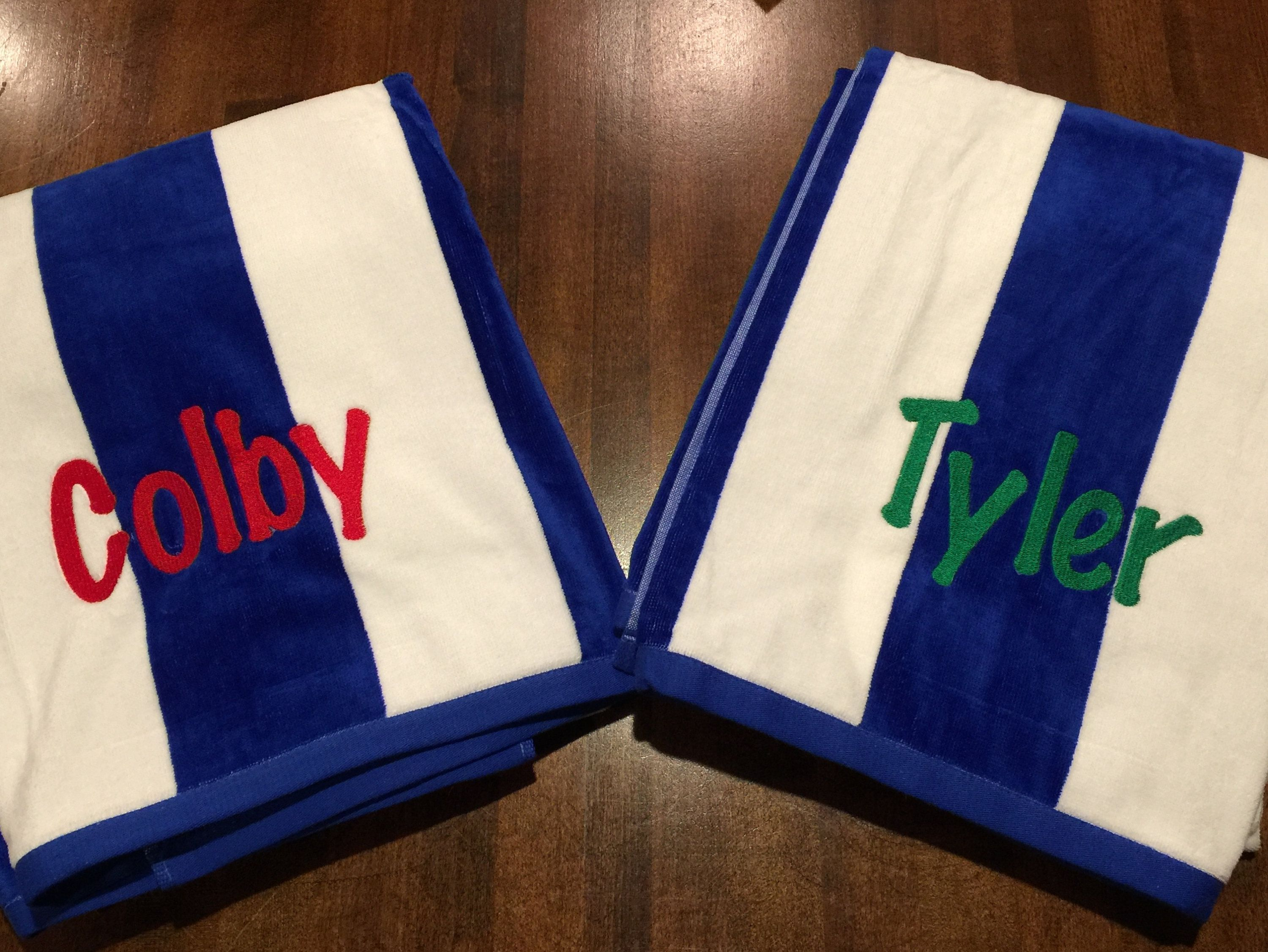 Personalized Striped Beach Towels With Name Pool Towel