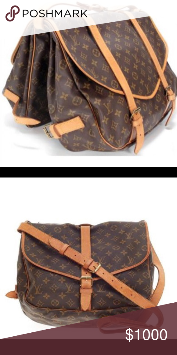 50b921018d32 Authentic Louis Vuitton Saddle Bag Louis Vuitton Saumur Handbag Monogram  Canvas MM Louis Vuitton Bags Crossbody