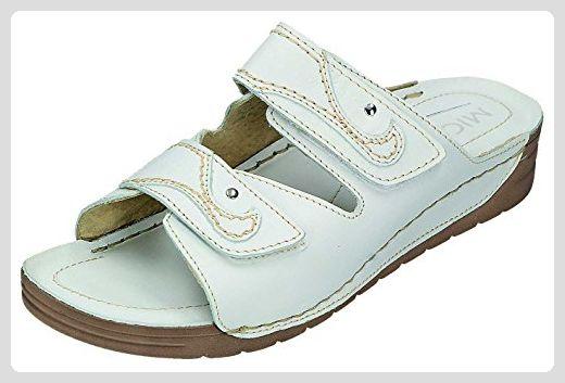 Miccos Shoes Damen Sandalen-Pantolette D.Clog in beige komb., Größe 37.0,
