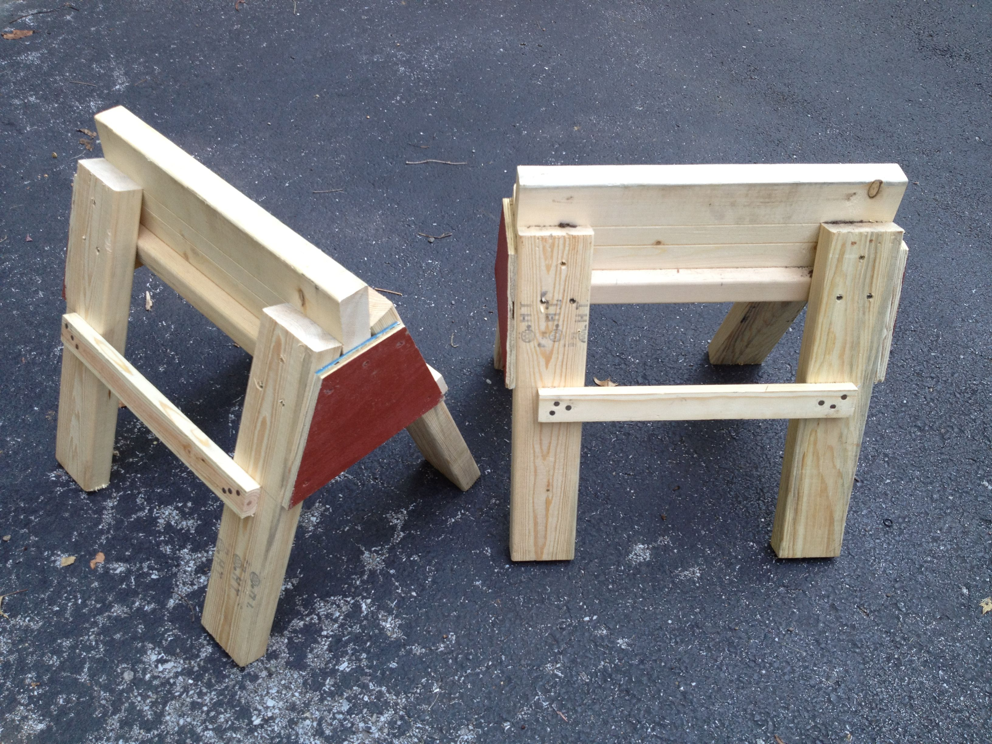 Awesome Needed A Couple Of Small Sawhorses So I Used My Favorite Gmtry Best Dining Table And Chair Ideas Images Gmtryco