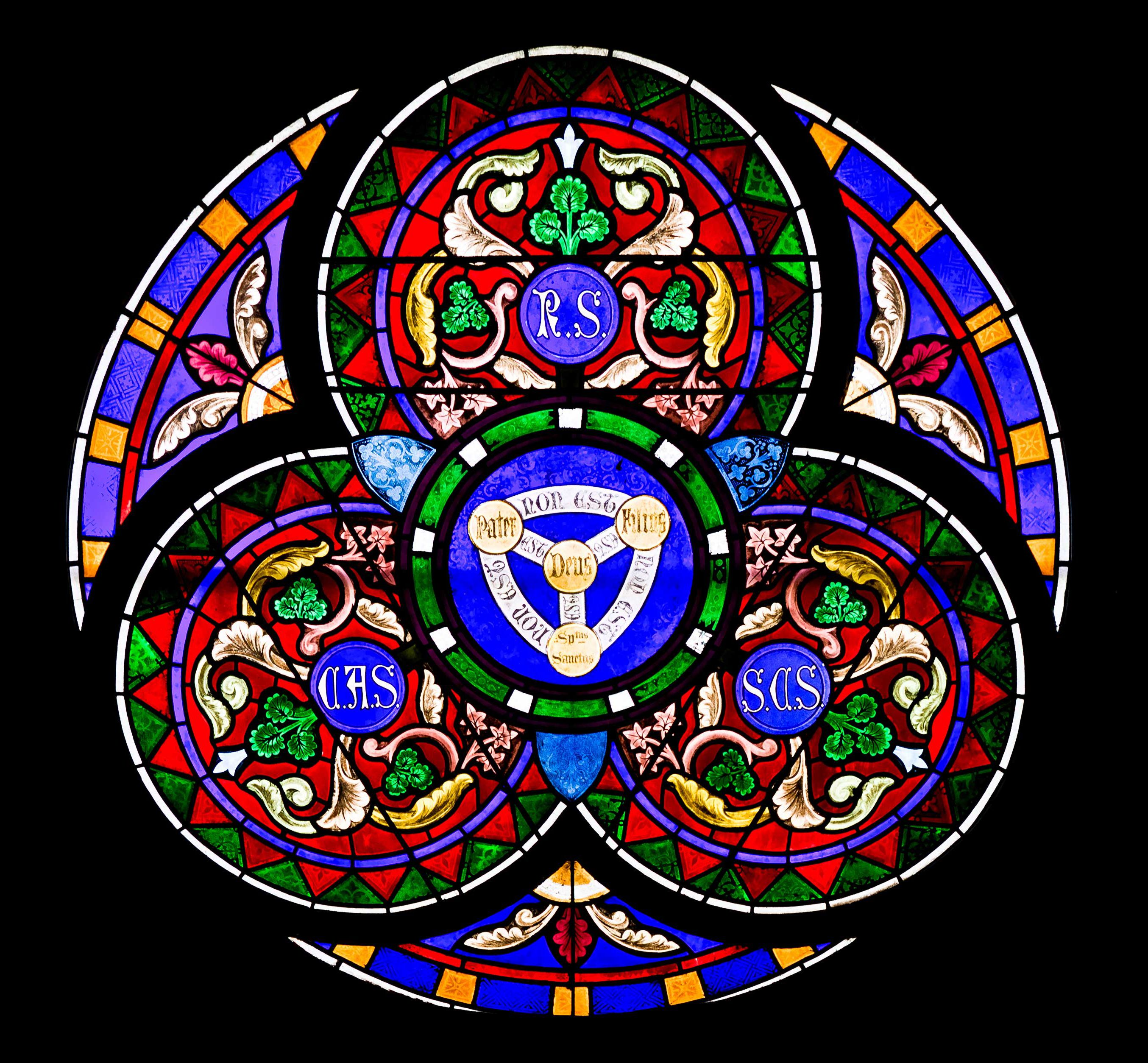 Image result for Trinity in stained glass windows
