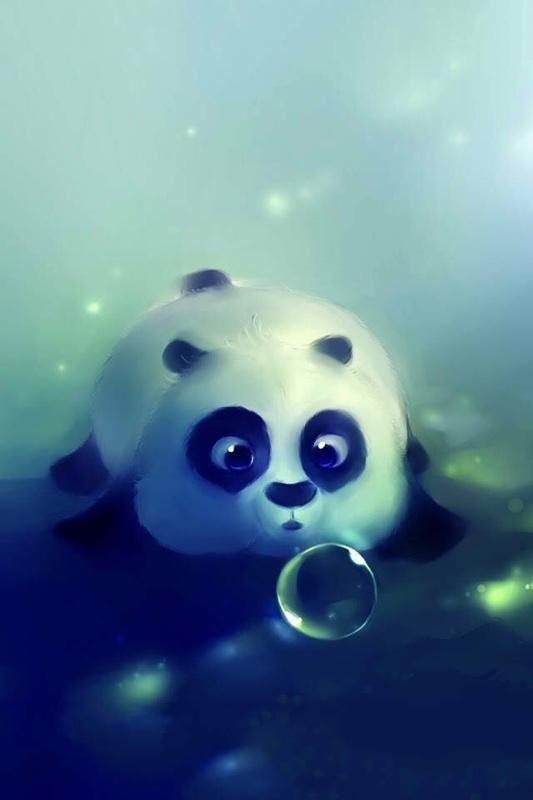 Panda Bubble Pic Cartoon Cute Wallpaper Iphone