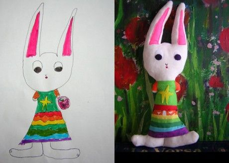 Childs Own Studio Plush Toys. What a great website! Get a child's drawing transformed into a stuffy. Brilliant!
