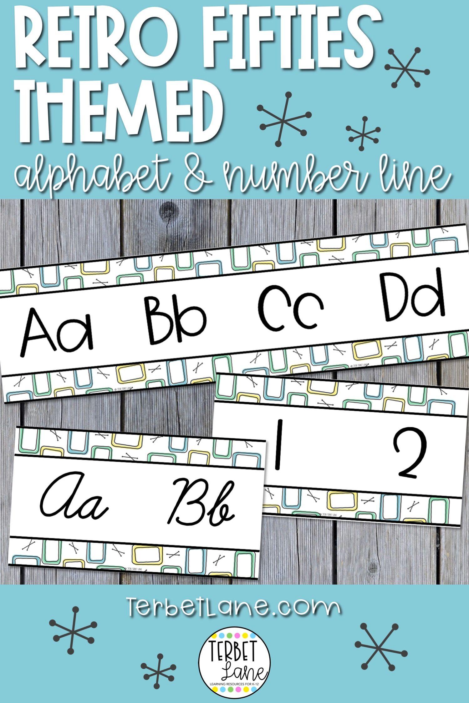 Retro Fifties Alphabet Line Posters