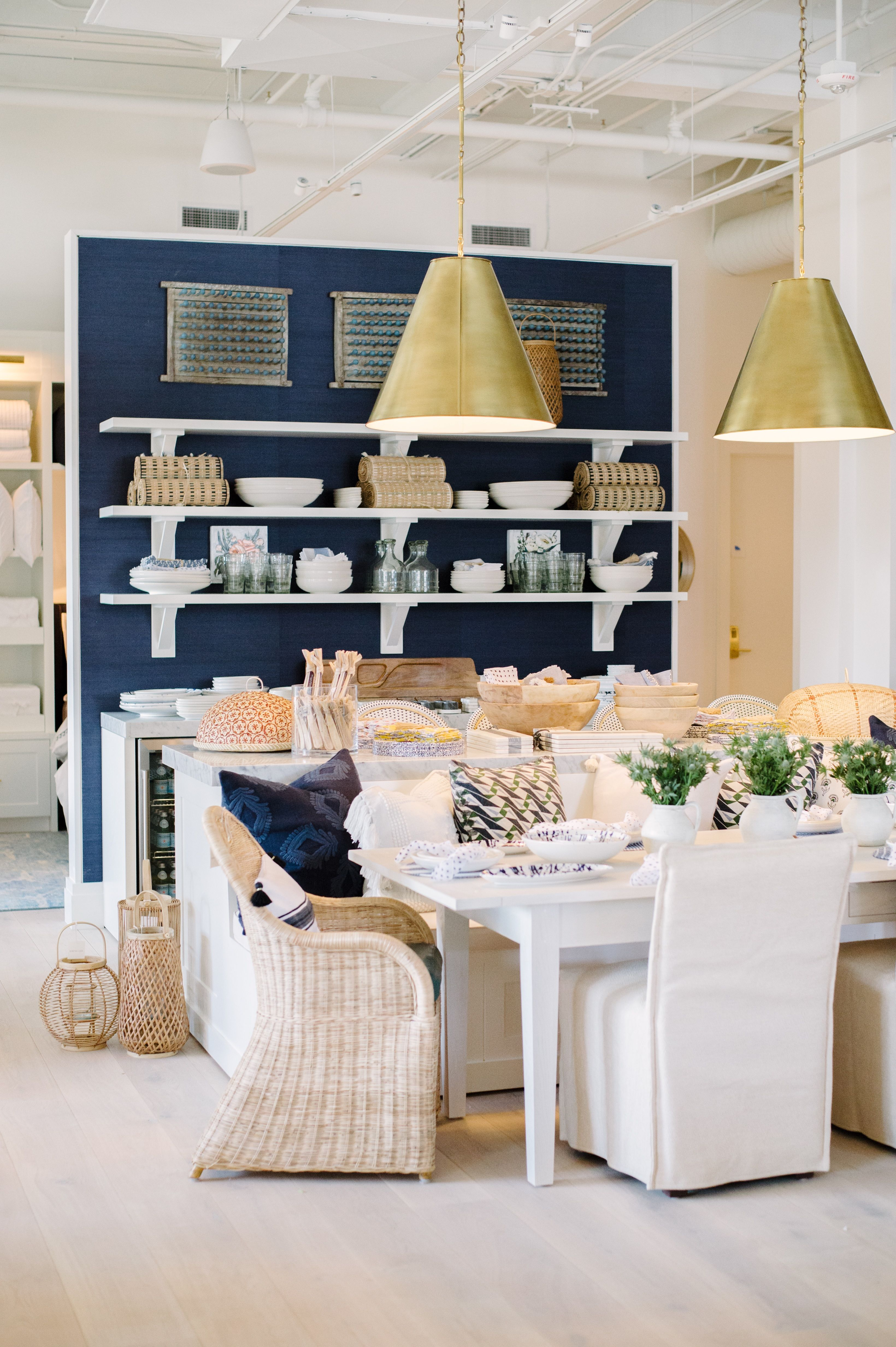 Navy Natural For Your Dining Nook Image Via Serena Lily S