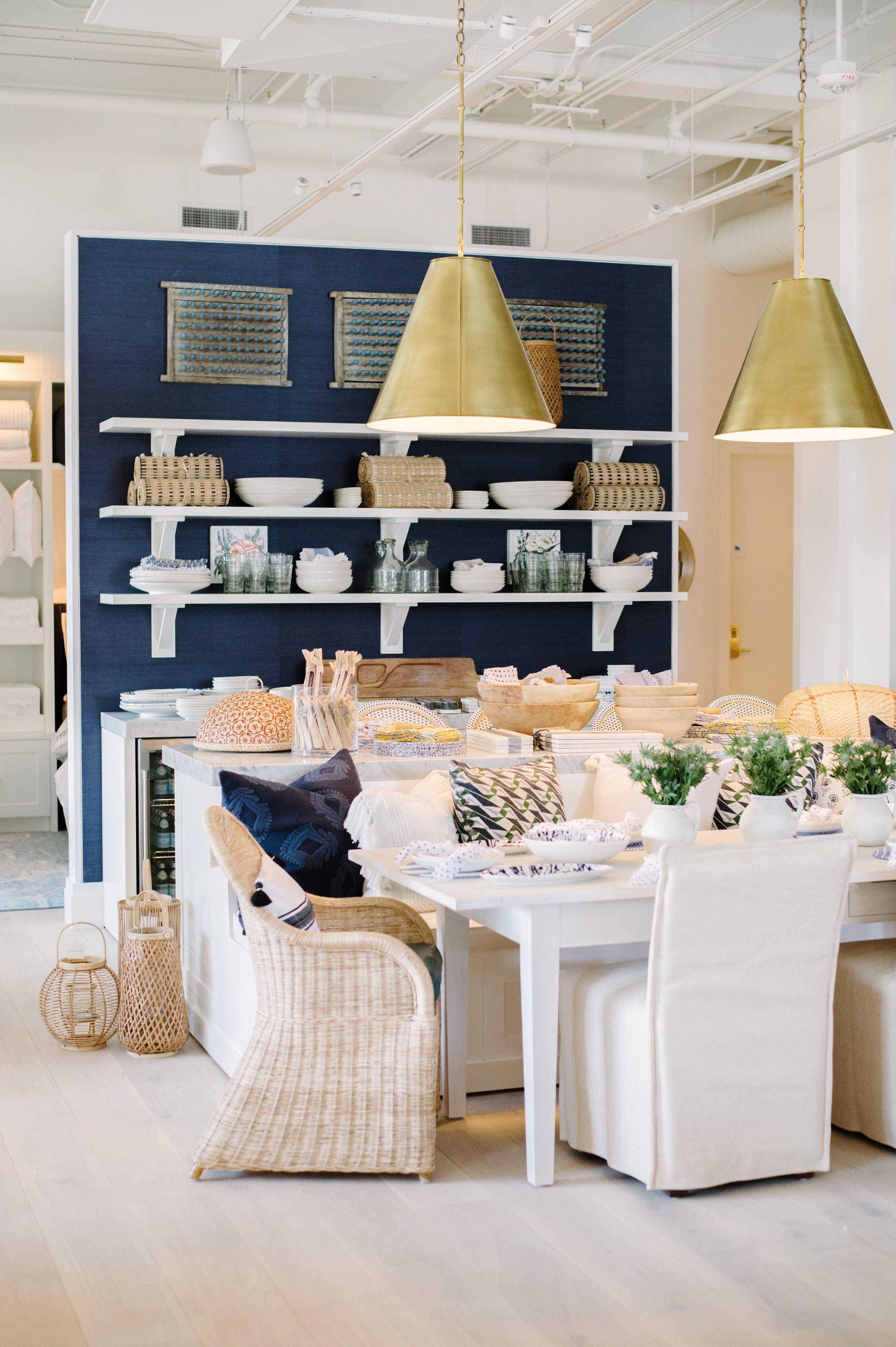 Navy & natural for your dining nook | Image via Serena & Lily's Atlanta Design Shop