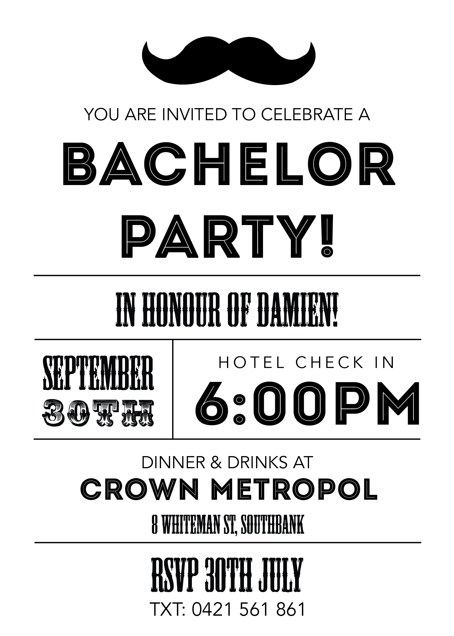 bachelor party invites sndclshcom invitation wording party invitations mustache invitations