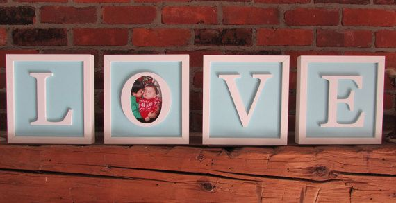 LOVE  Hand cut 3D letters individually framed for by CiracoFramers