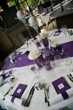 Pin by Lesley Yanka on Lesley purple wedding | Pinterest | Banquet ...