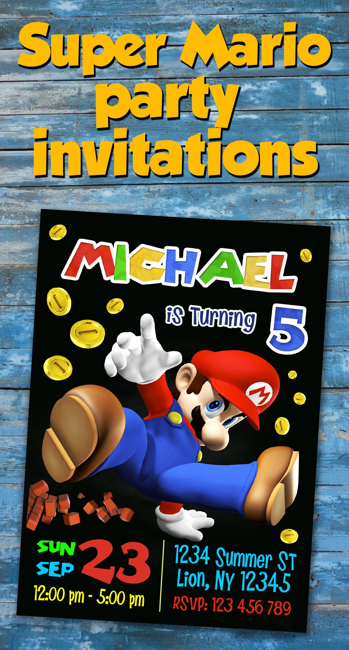 Super mario birthday party invitation super mario printables super mario birthday party invitation super mario printables super mario invitation super mario monicamarmolfo Gallery