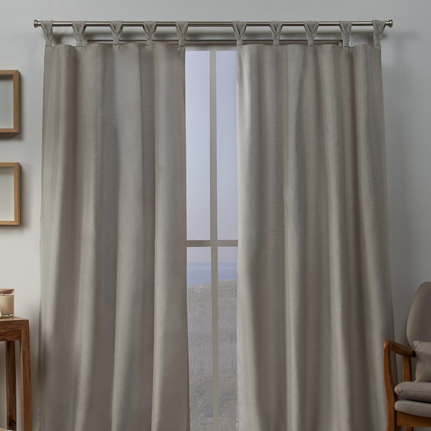 Exclusive Home 2-pack Loha Linen Braided Window Curtains