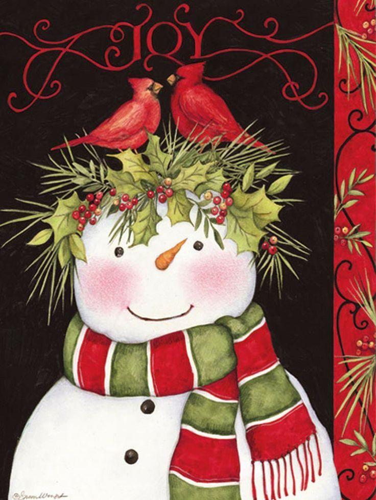 Snowman Joy Christmas Cards , 1004682 Lang Joy