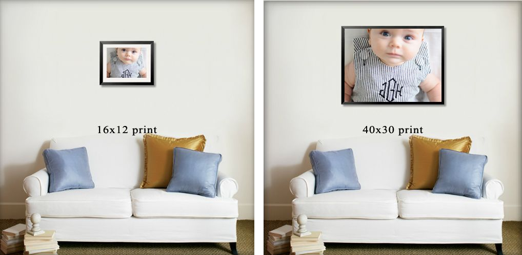 Print Size Comparisons Print Size Comparisons Photography Photos