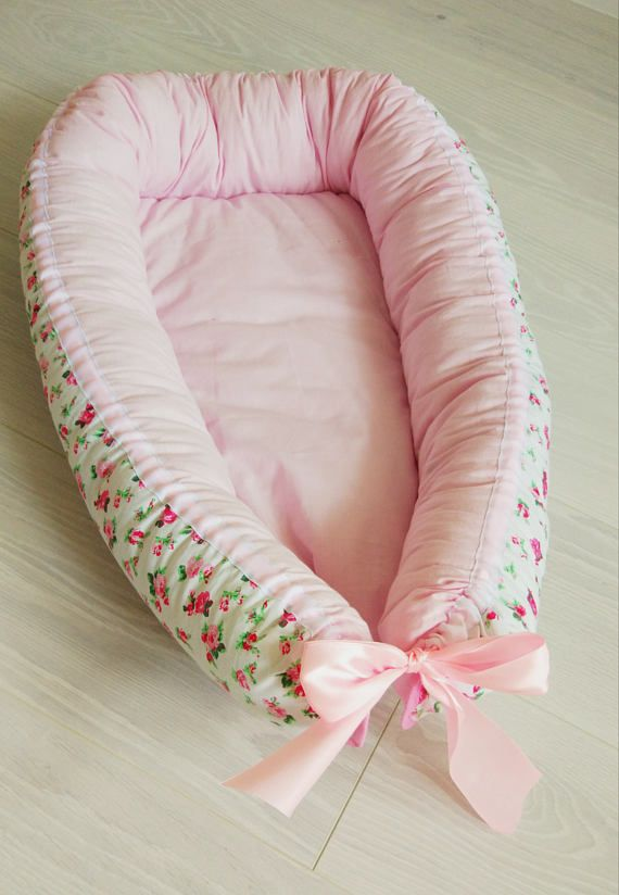Baby Nest Cocoon Cushion Baby Bed Pillow Blanket Set High-Quality Floral Cot