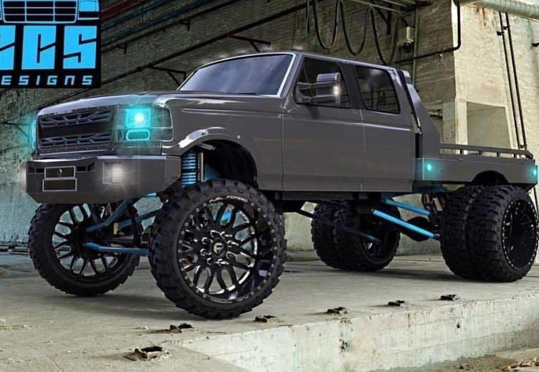 A Mean Ford Truck Offroad Lifted Trickedout Jackedup Trucks