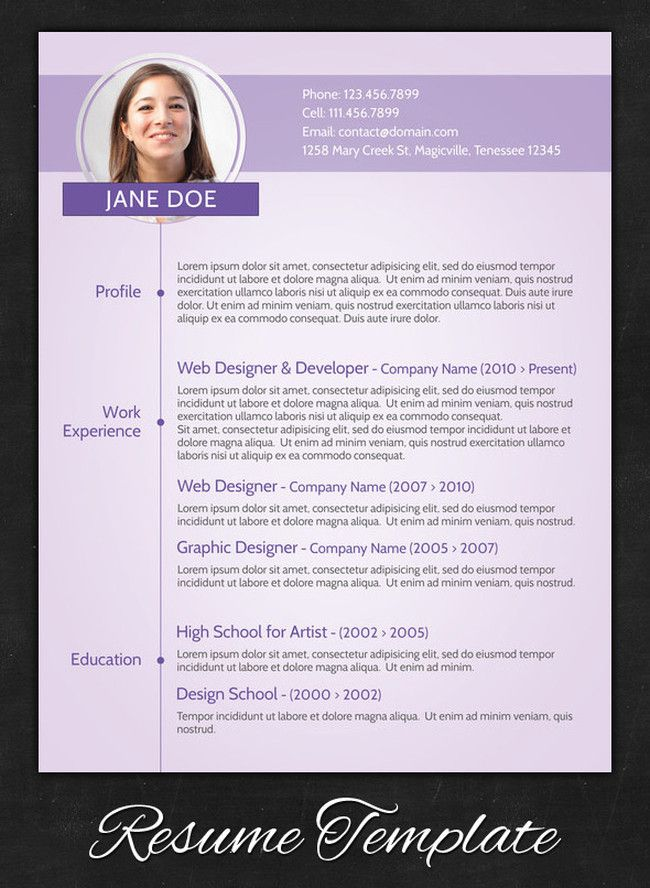 sample resume cv examples