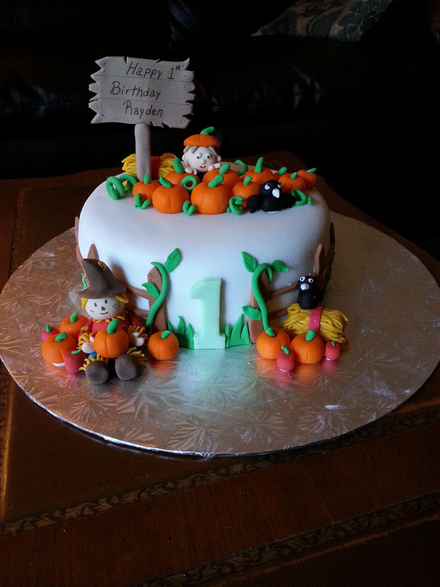 Thanksgiving 1st Birthday Cake With Images Pumpkin Birthday