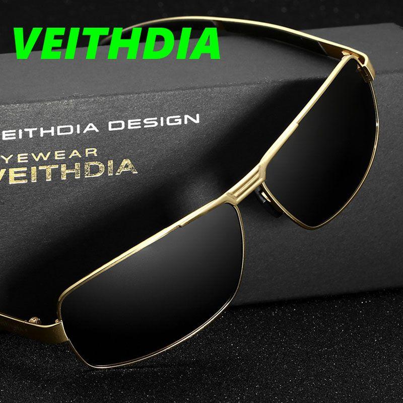 f8fd634d78 VEITHDIA New UV400 Pilot Men Polarized Sunglasses Brand Logo Design Driving  Sun Glasses 2017 Eyewear Accessories