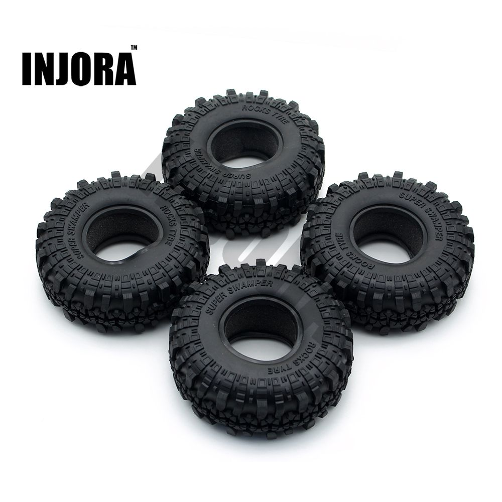 4pcs 1 9 Rubber Tyre Wheel Tires For 1 10 Rc Rock Crawler Axial Scx10 90046 Tamiya Cc01 Rc4wd D90 D110 Affiliate