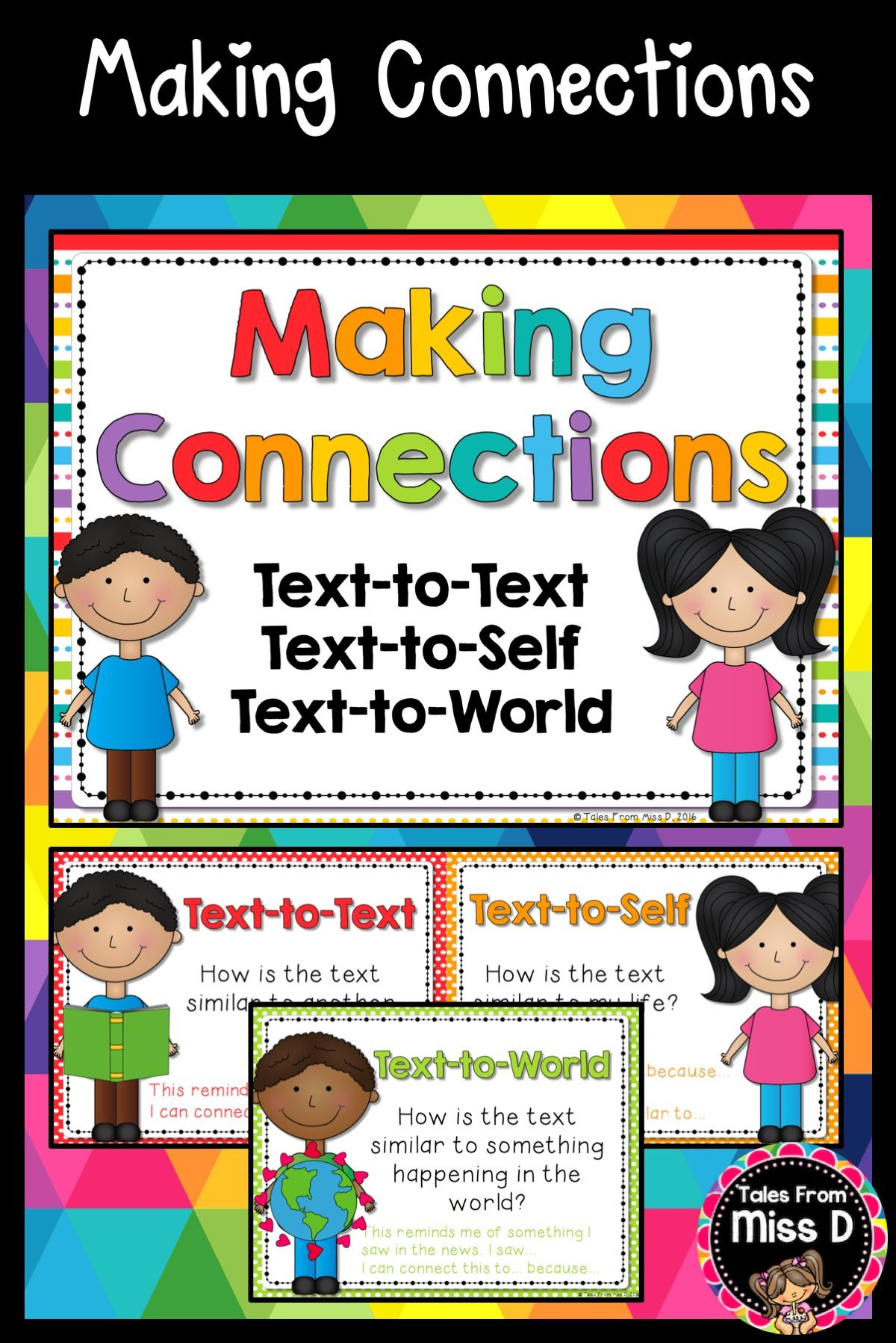 A Set Of Making Connections Posters With Thinking Stems