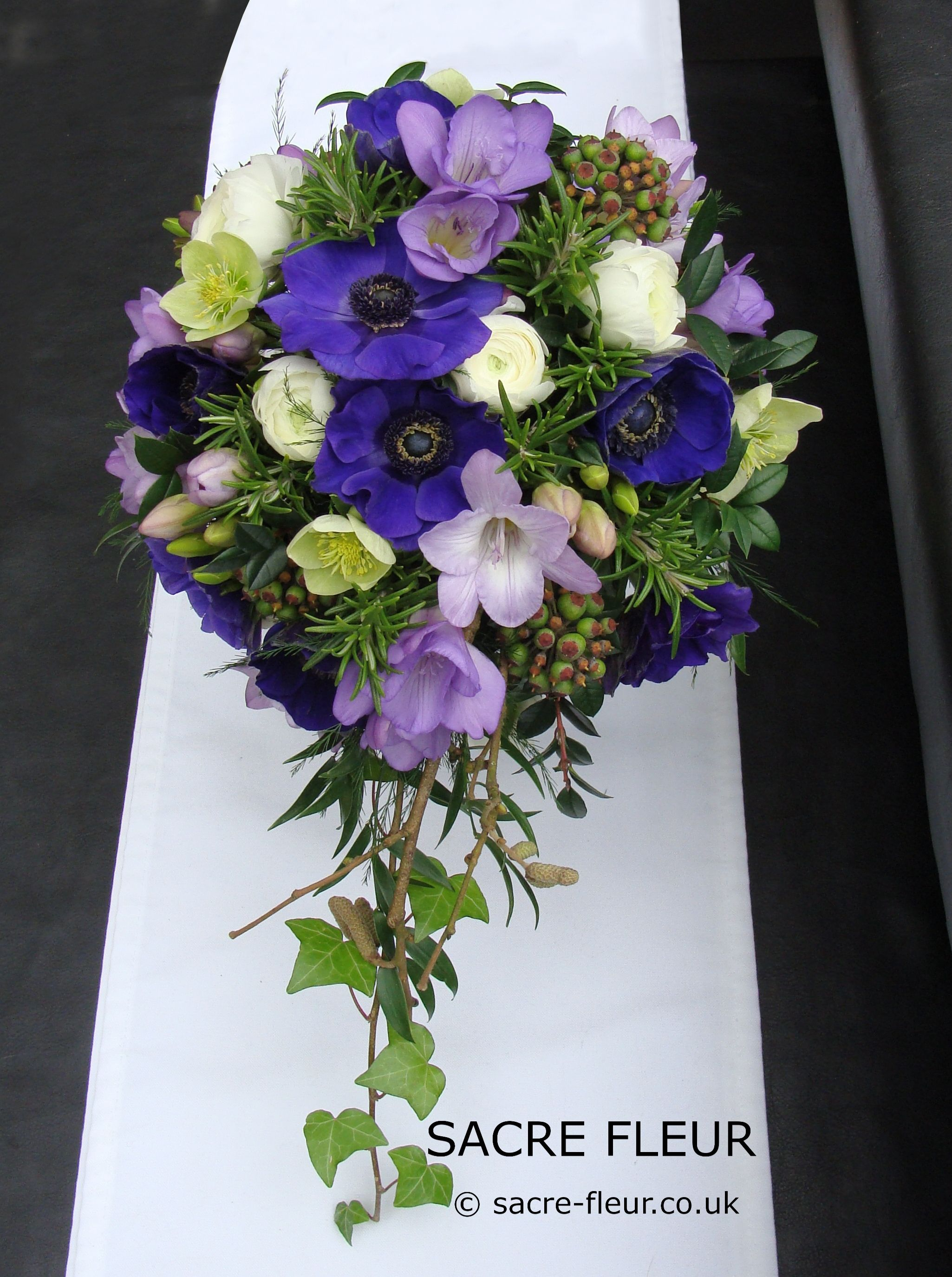 Anemone And Freesia Bouquet Freesia Bouquet Event Flowers Flowers Delivered