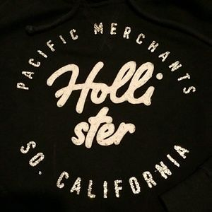 I just added this to my closet on Poshmark: Hollister black  graphic hoodie Size M. Price: $8 Size: M