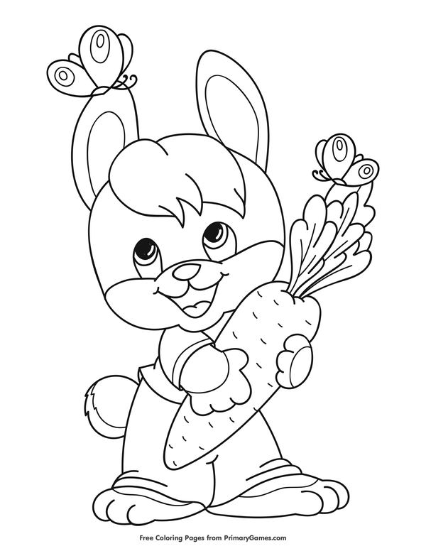 Free printable easter coloring pages ebook for use in your classroom or home from primarygames