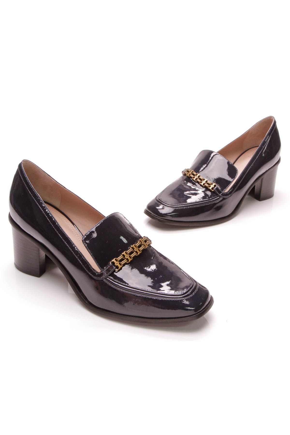 7d1915c0a7232b Gemini Link Heeled Loafers - Patent Loafers Size 10
