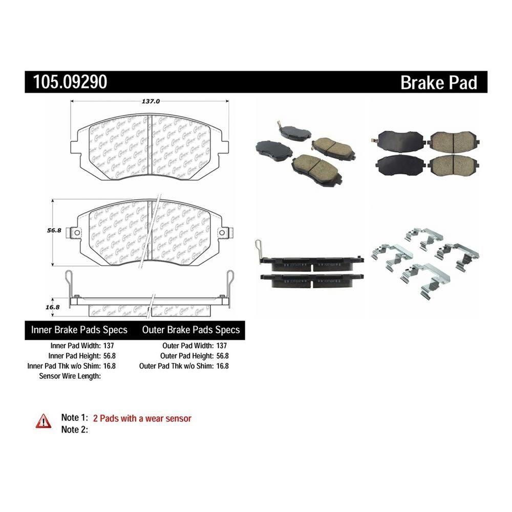 Front Ceramic Brake Pad Set For Subaru Outback 2002-2012