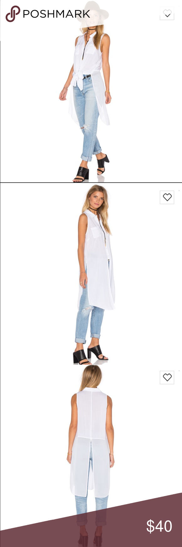 BCBGeneration top Elongated button up top. New with tags. BCBGeneration Tops