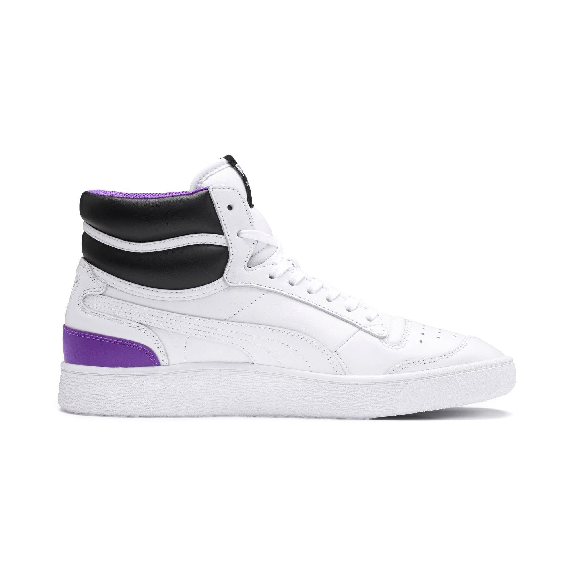 Photo of Ralph Sampson Mid Zapatillas deportivas | PWhite-PWhite-Purple Glimmer | PUMA Destacado | PUMA Reino Unido