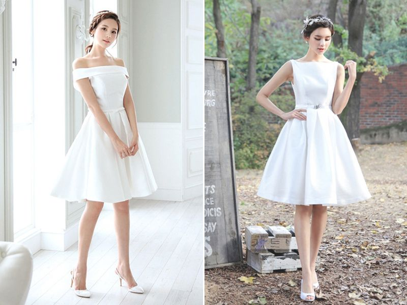 30 modern short wedding dresses for summer brides short