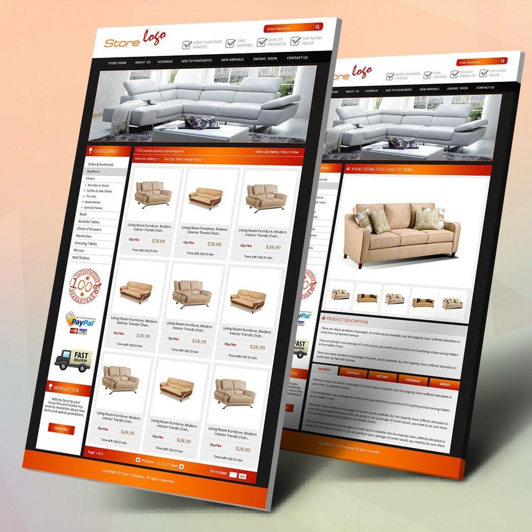 Modern Furniture Theme Ebay Product Description Template  Ebay