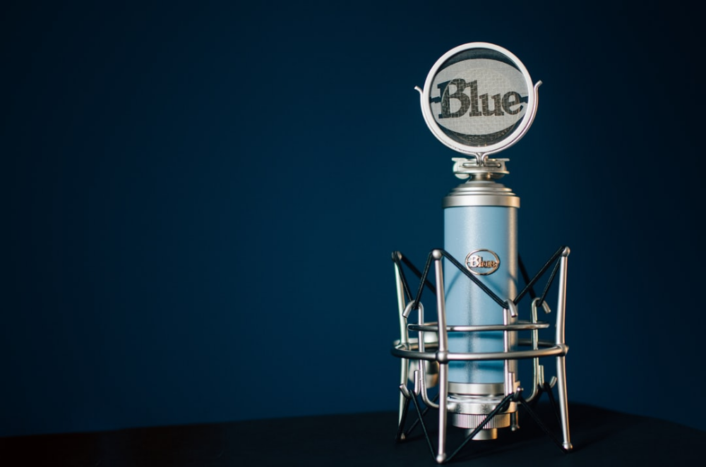 Blue Condenser Microphone Download This Photo By Kelly Sikkema On
