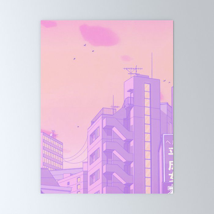 Tokyo Valentine Mini Art Print by Elora Pautrat - Without Stand - 3