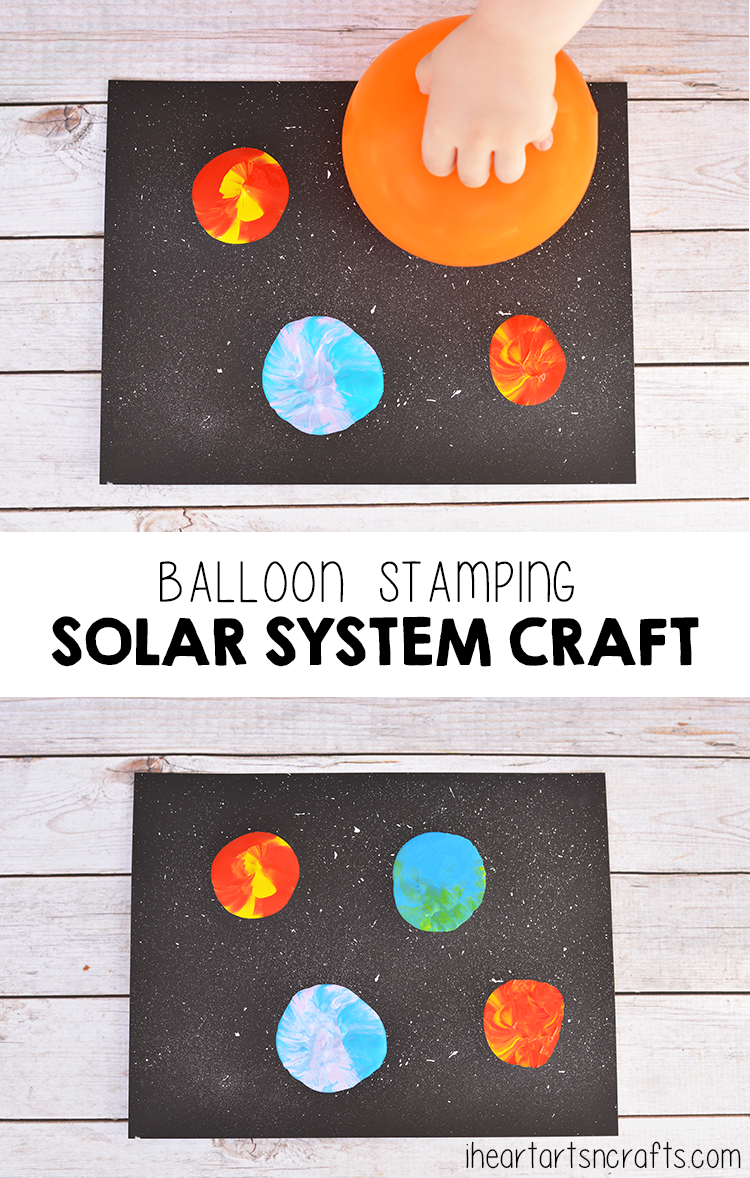 Balloon Stamping Solar System Craft For Kids Space Crafts