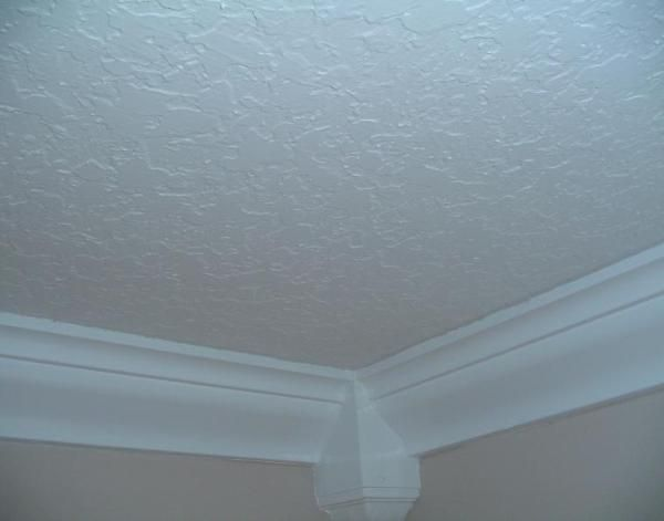 Knockdown Texture On All Ceilings In Plain Ceiling White Removing Popcorn Ceiling Ceiling Texture Popcorn Ceiling