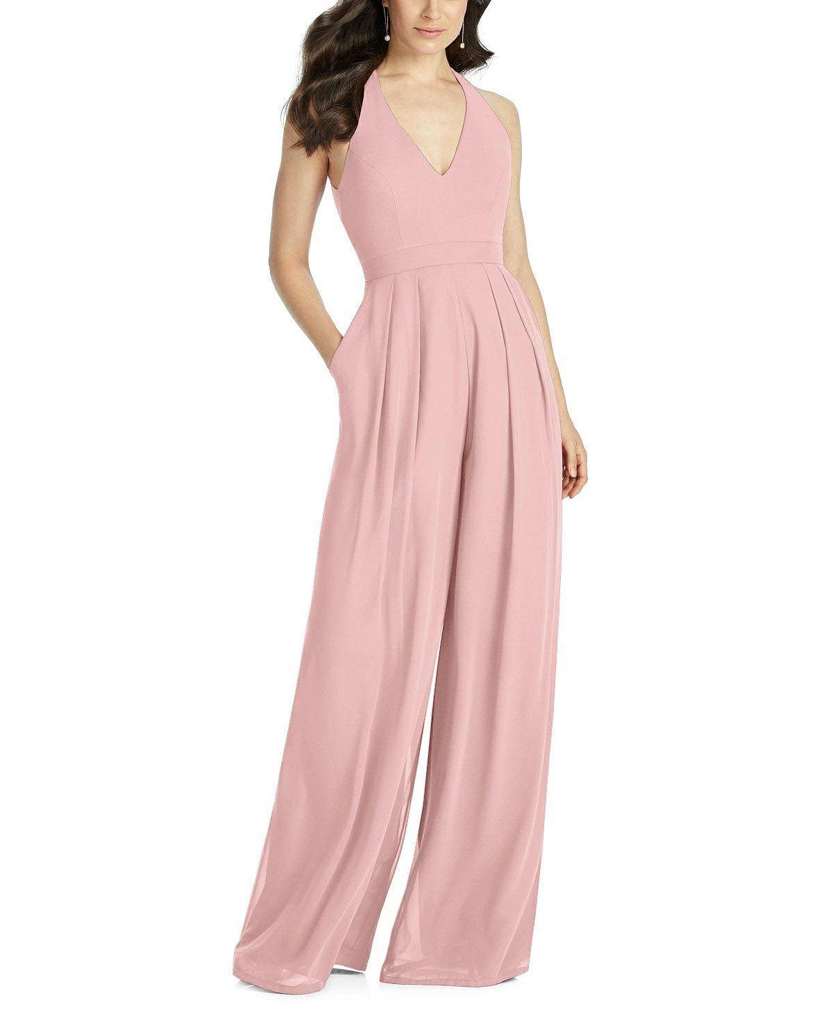 Dessy Bridesmaid Jumpsuit Arielle #bridesmaidjumpsuits