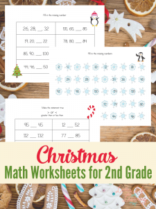 Cute Christmas Math worksheets for the 2nd grade to get you into the holiday spirit.