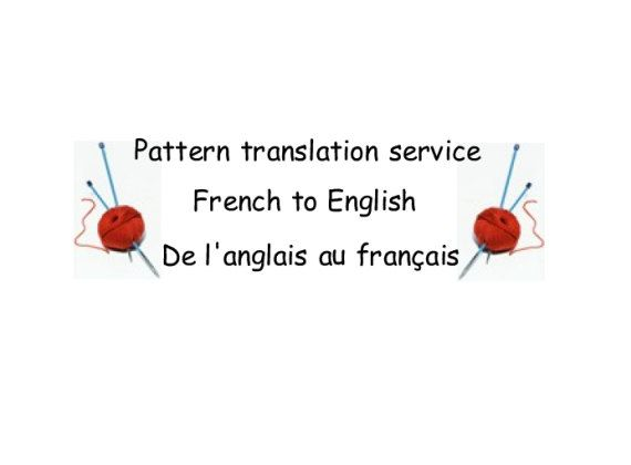Knitting And Crochet Patterns Translation Service French To