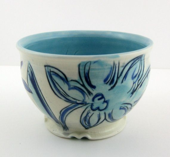 Small blue and white porcelain soup or by MarikoABrownCeramics
