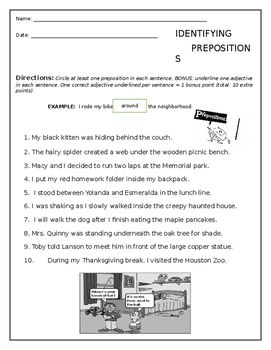 Prepositions Worksheet Free Preposition Worksheets Prepositions Prepositional Phrases